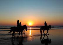 Drei Reiter am Strand